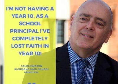 Colin Simpson quote no year 10